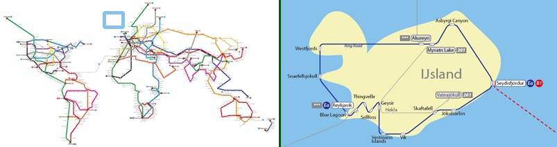Wereld Metrokaart-groot-zonder kaart